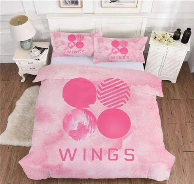 BTS Design Bed Cover + 2 Pillowcases S / Wings 4 Gotamochi BTS MERCH BT21 MERCH KAWAII STORE