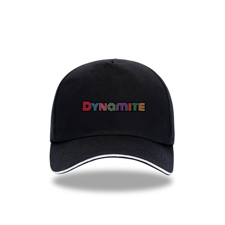 BTS 'DYNAMITE' Concept Cap A / BLACK Gotamochi BTS MERCH BT21 MERCH KAWAII STORE