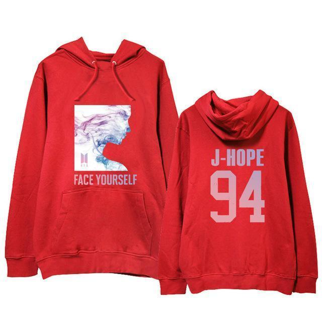 BTS Face Yourself Bias Hoodie J-HOPE12 / M Gotamochi BTS MERCH BT21 MERCH KAWAII STORE