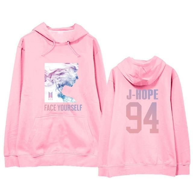 BTS Face Yourself Bias Hoodie J-HOPE15 / M Gotamochi BTS MERCH BT21 MERCH KAWAII STORE