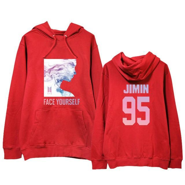 BTS Face Yourself Bias Hoodie JIMIN7 / M Gotamochi BTS MERCH BT21 MERCH KAWAII STORE
