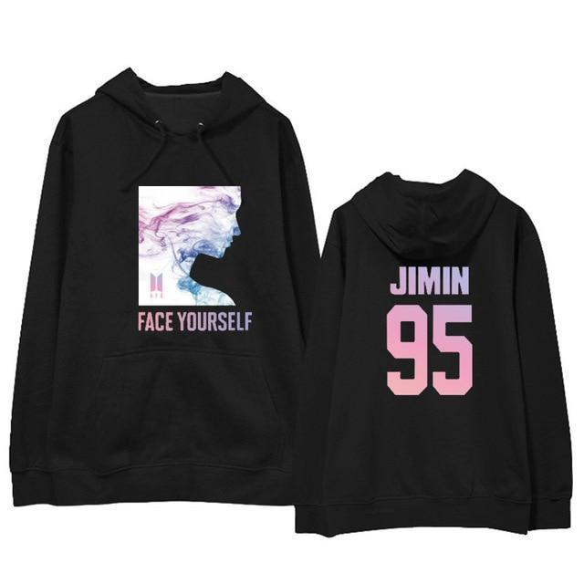 BTS Face Yourself Bias Hoodie JIMIN9 / M Gotamochi BTS MERCH BT21 MERCH KAWAII STORE