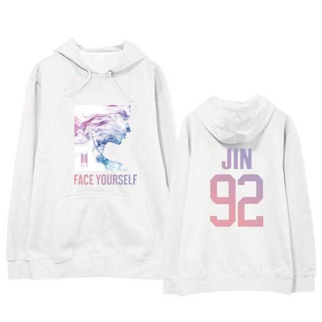 BTS Face Yourself Bias Hoodie JIN1 / M Gotamochi BTS MERCH BT21 MERCH KAWAII STORE