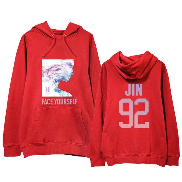 BTS Face Yourself Bias Hoodie JIN2 / M Gotamochi BTS MERCH BT21 MERCH KAWAII STORE