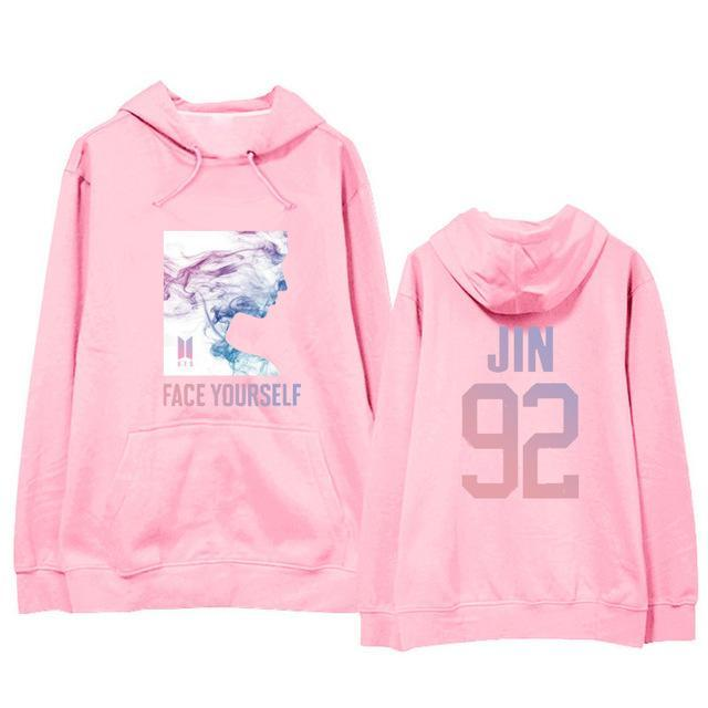 BTS Face Yourself Bias Hoodie JIN5 / M Gotamochi BTS MERCH BT21 MERCH KAWAII STORE