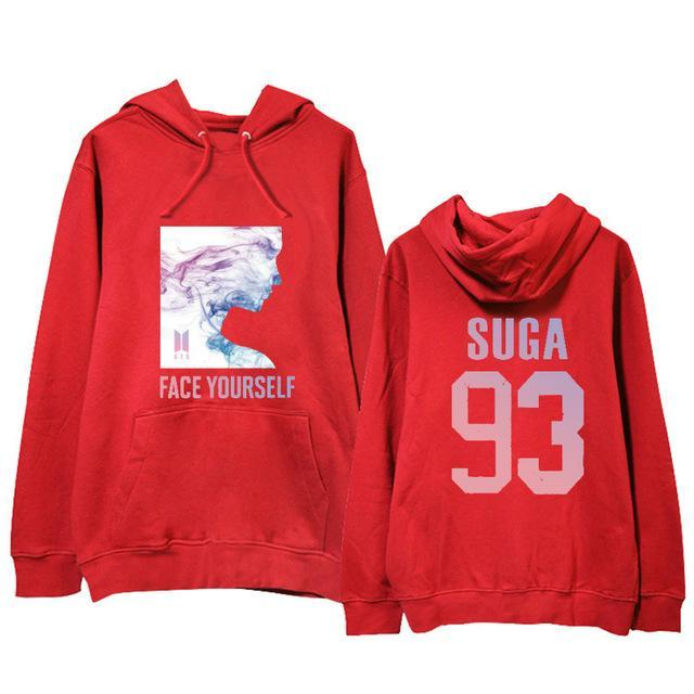 BTS Face Yourself Bias Hoodie SUGA2 / M Gotamochi BTS MERCH BT21 MERCH KAWAII STORE