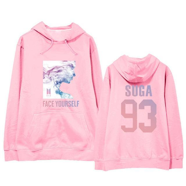 BTS Face Yourself Bias Hoodie SUGA5 / M Gotamochi BTS MERCH BT21 MERCH KAWAII STORE