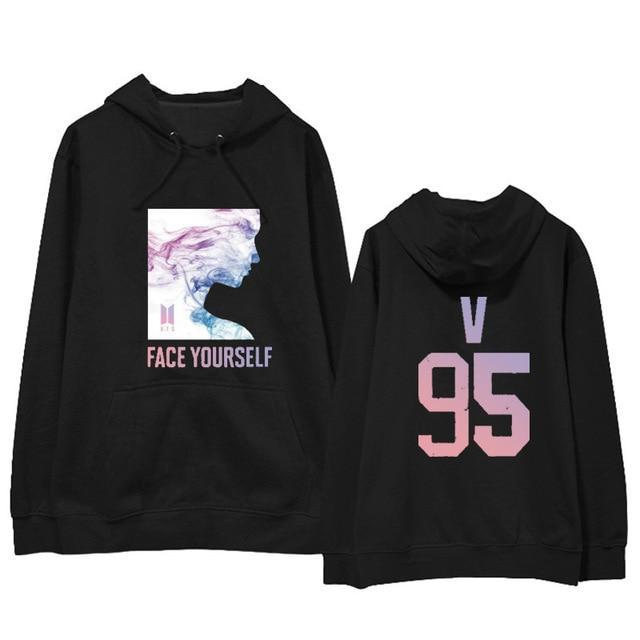BTS Face Yourself Bias Hoodie V4 / M Gotamochi BTS MERCH BT21 MERCH KAWAII STORE