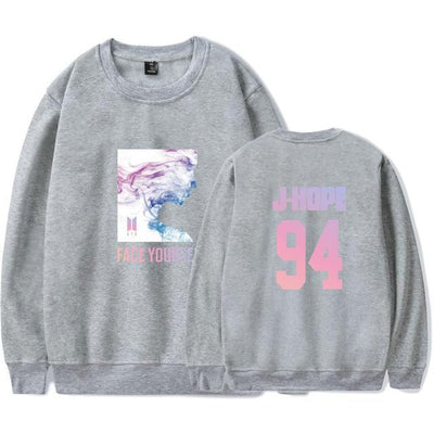 BTS Face Yourself Pastel Pullover - GOTAMOCHI KPOP BTS MERCH KAWAII Shop - Hoodies & Sweatshirts