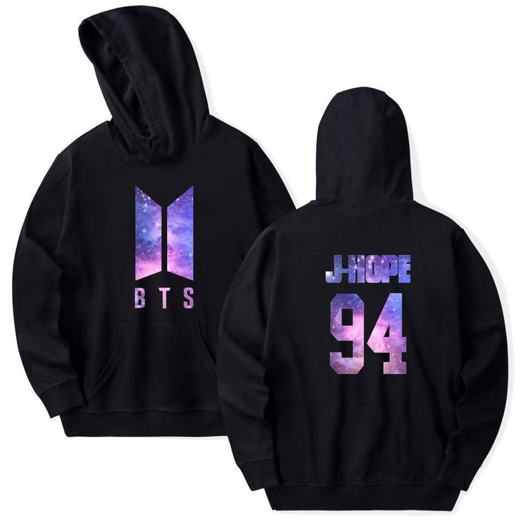 BTS Galaxy Nexus Bias Hoodie J HOPE / Black / M Gotamochi BTS MERCH BT21 MERCH KAWAII STORE