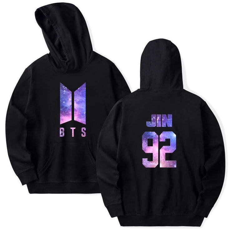 BTS Galaxy Nexus Bias Hoodie JIN / Black / M Gotamochi BTS MERCH BT21 MERCH KAWAII STORE