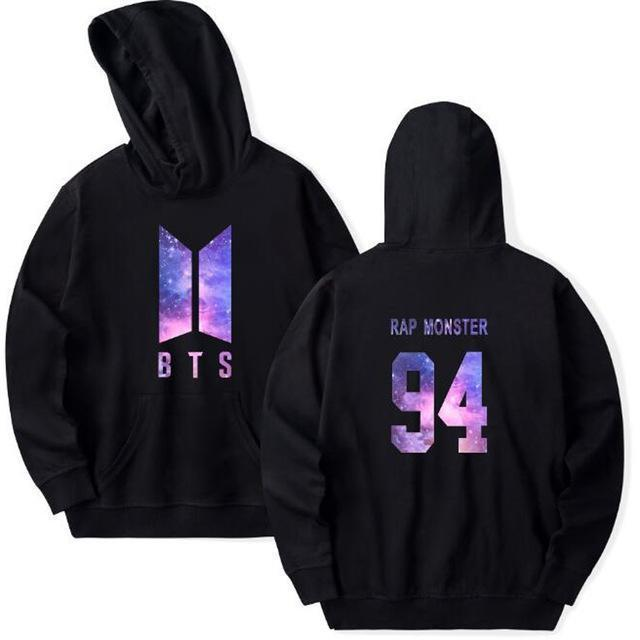 BTS Galaxy Nexus Bias Hoodie RAP MONSTER / Black / M Gotamochi BTS MERCH BT21 MERCH KAWAII STORE