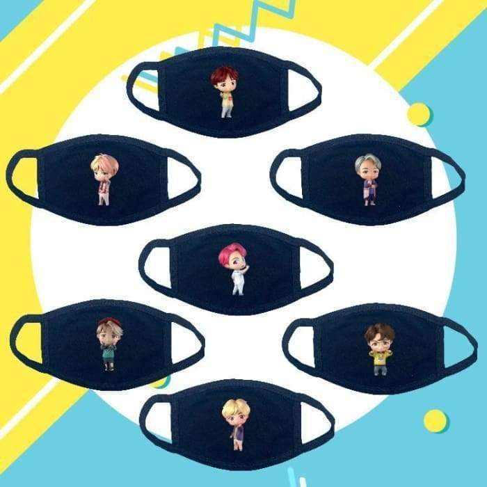 BTS House Of BTS Character Mask Set Of 7 (SAVE 50%) Gotamochi BTS MERCH BT21 MERCH KAWAII STORE