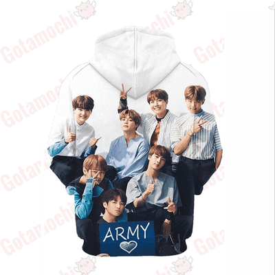 BTS iHeartArmy Premium Hoodie Gotamochi BTS MERCH BT21 MERCH KAWAII STORE