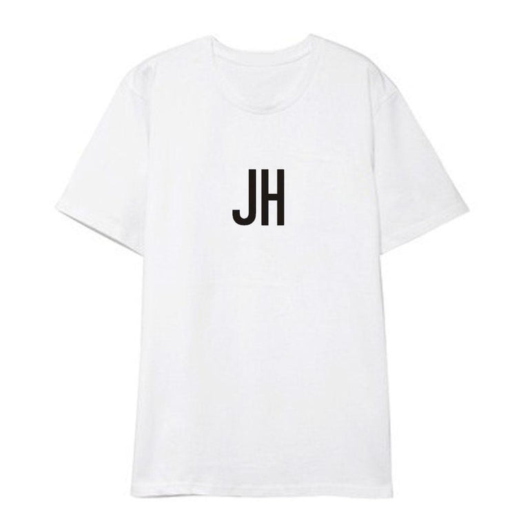 BTS Initial Name T-shirt J-HOPE / WHITE / S Gotamochi BTS MERCH BT21 MERCH KAWAII STORE