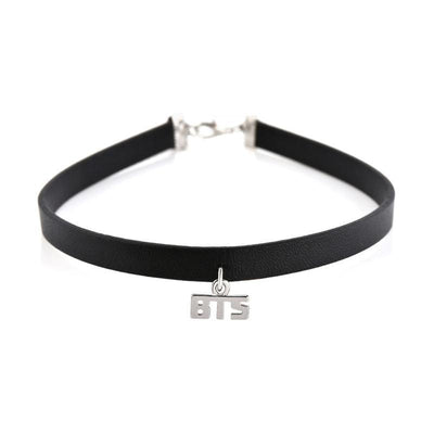 BTS Leather Choker Silver Gotamochi BTS MERCH BT21 MERCH KAWAII STORE