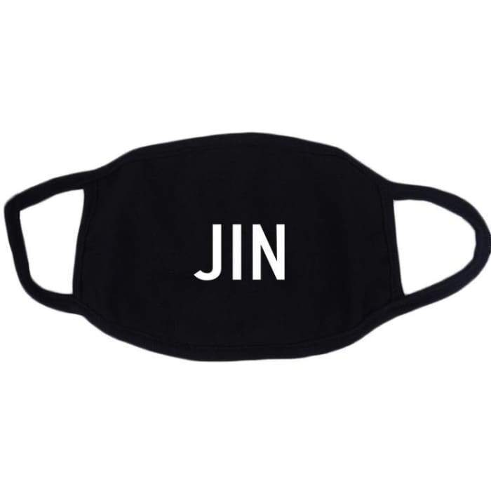BTS Logo & Member Name Mask JIN Gotamochi BTS MERCH BT21 MERCH KAWAII STORE