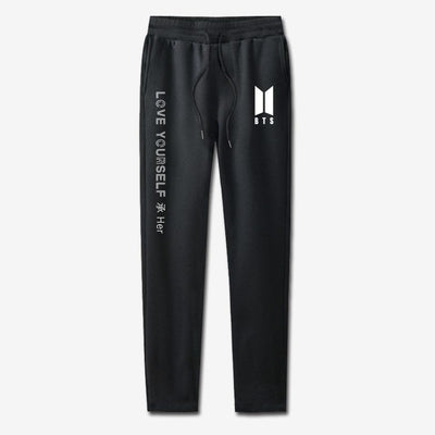 BTS Love Yourself Sweatpants black / 4XL Gotamochi BTS MERCH BT21 MERCH KAWAII STORE