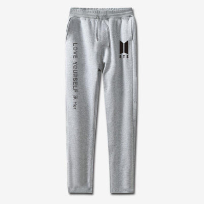 BTS Love Yourself Sweatpants gray / 4XL Gotamochi BTS MERCH BT21 MERCH KAWAII STORE