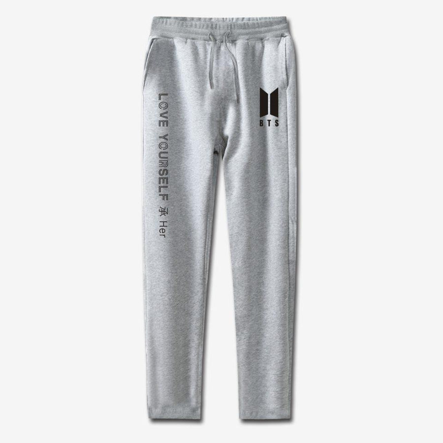 BTS Love Yourself Sweatpants - GOTAMOCHI KPOP BTS MERCH KAWAII Shop -