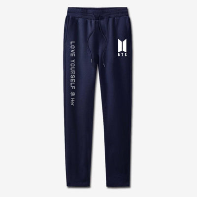 BTS Love Yourself Sweatpants navy / 4XL Gotamochi BTS MERCH BT21 MERCH KAWAII STORE