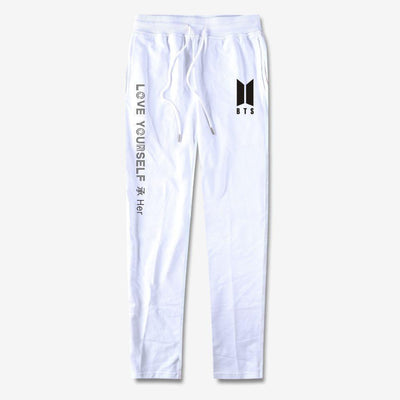 BTS Love Yourself Sweatpants white / 4XL Gotamochi BTS MERCH BT21 MERCH KAWAII STORE