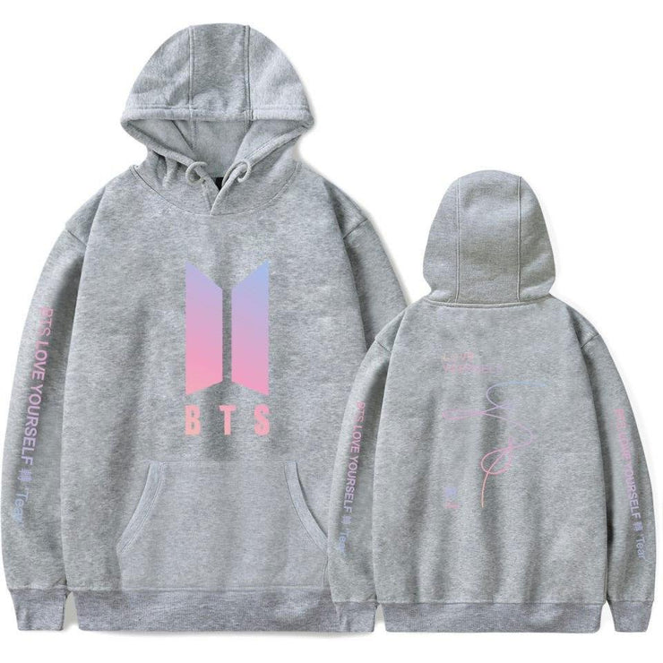 BTS Love Yourself: Tear Aesthetics Army Hoodie gray / M Gotamochi BTS MERCH BT21 MERCH KAWAII STORE