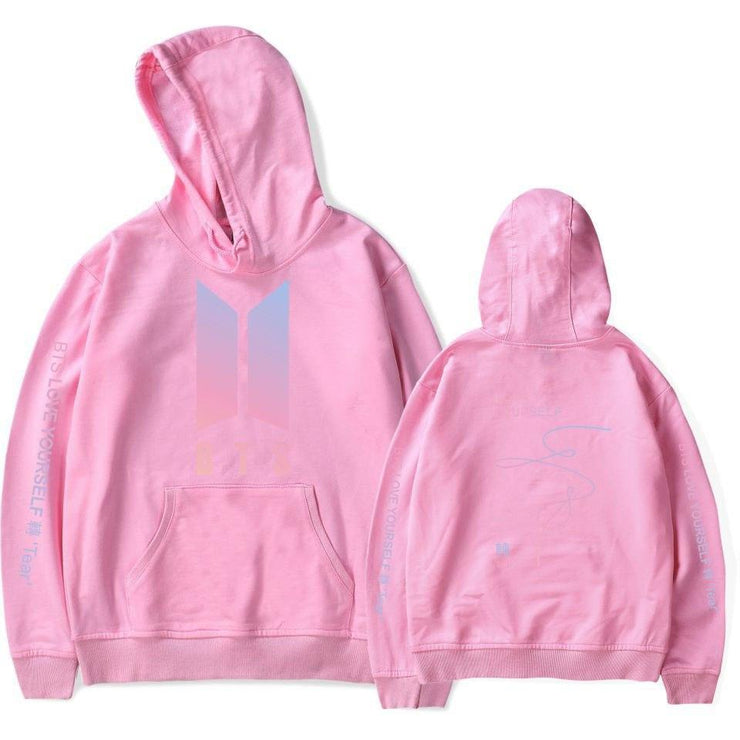 BTS Love Yourself: Tear Aesthetics Army Hoodie pink / M Gotamochi BTS MERCH BT21 MERCH KAWAII STORE