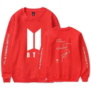 BTS Love Yourself: Tear Classic Pullover red1 / S Gotamochi BTS MERCH BT21 MERCH KAWAII STORE