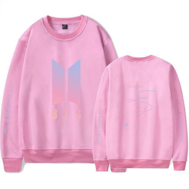 BTS Love Yourself: Tear Pastel Pullover pink / S Gotamochi BTS MERCH BT21 MERCH KAWAII STORE