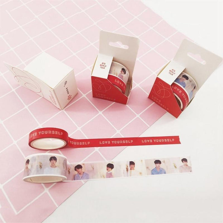 BTS Love Yourself World Tour Concert Aesthetics Tape [Limited Edition] Love Yourself Red/Custom Gotamochi BTS MERCH BT21 MERCH KAWAII STORE