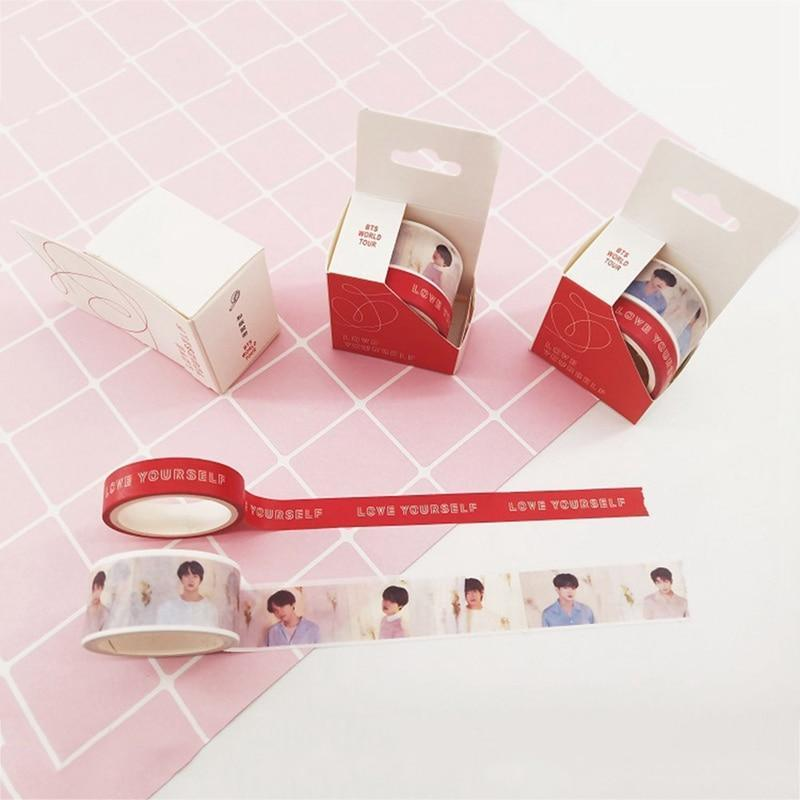 BTS Love Yourself World Tour Concert Aesthetics Tape [Limited Edition] - GOTAMOCHI KPOP BTS MERCH KAWAII Shop - Office Adhesive Tape