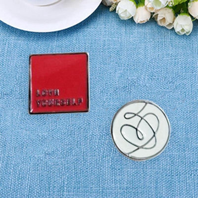 BTS Love Yourself World Tour Concert Metal Badge - GOTAMOCHI KPOP BTS MERCH KAWAII Shop - Brooches