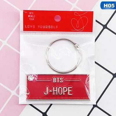 BTS Love Yourself World Tour Concert Name Tag [Limited Edition] - [2 Styles] - GOTAMOCHI KPOP BTS MERCH KAWAII Shop - Key Chains