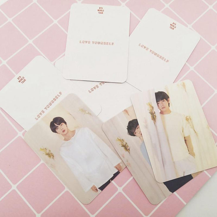 BTS Love Yourself World Tour Concert Photo Cards [Limited Edition] Photocard Version 2 (Double Sides) Gotamochi BTS MERCH BT21 MERCH KAWAII STORE