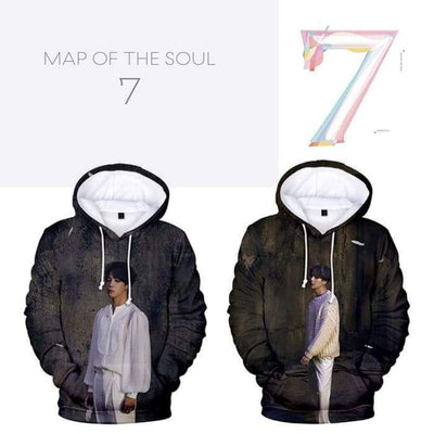 BTS Map of The Soul: 7 3D Printed Hoodie [Version 1] Gotamochi BTS MERCH BT21 MERCH KAWAII STORE