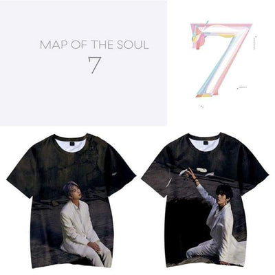 BTS Map Of The Soul: 7 3D Printed T-shirt [Version 1] Gotamochi BTS MERCH BT21 MERCH KAWAII STORE