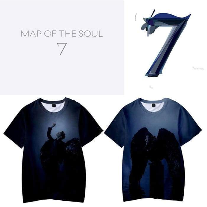 BTS Map Of The Soul: 7 Black Swan T-shirt [Version 2] Gotamochi BTS MERCH BT21 MERCH KAWAII STORE