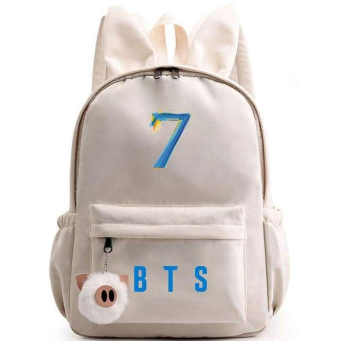 BTS Map Of The Soul: 7 Bunny Backpack BTS / OFF-WHITE Gotamochi BTS MERCH BT21 MERCH KAWAII STORE