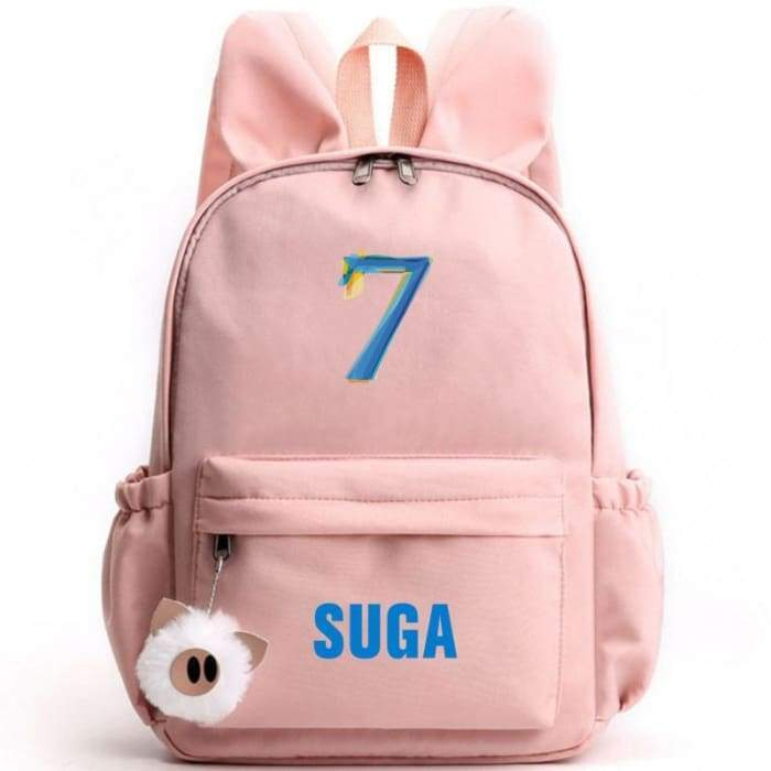 BTS Map Of The Soul: 7 Bunny Backpack SUGA / PINK Gotamochi BTS MERCH BT21 MERCH KAWAII STORE
