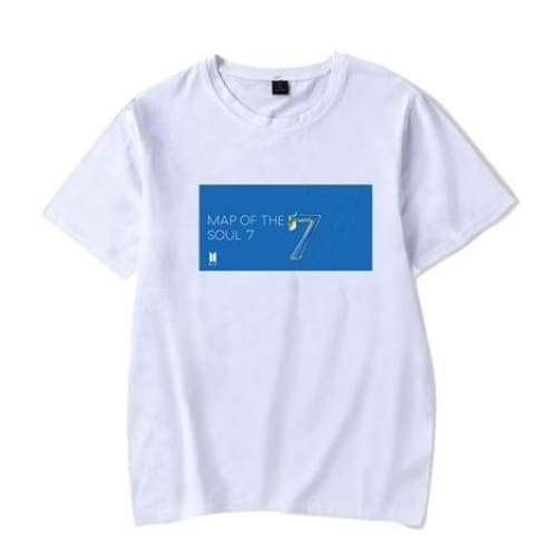 BTS Map Of The Soul: 7 Concept T-shirt 2 / WHITE / S Gotamochi BTS MERCH BT21 MERCH KAWAII STORE