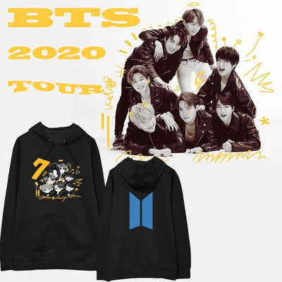 BTS  Map of The Soul: 7 Members Cartoon Hoodie Gotamochi BTS MERCH BT21 MERCH KAWAII STORE