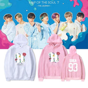 BTS Map Of The Soul: 7 'The Journey' Hoodie Gotamochi BTS MERCH BT21 MERCH KAWAII STORE