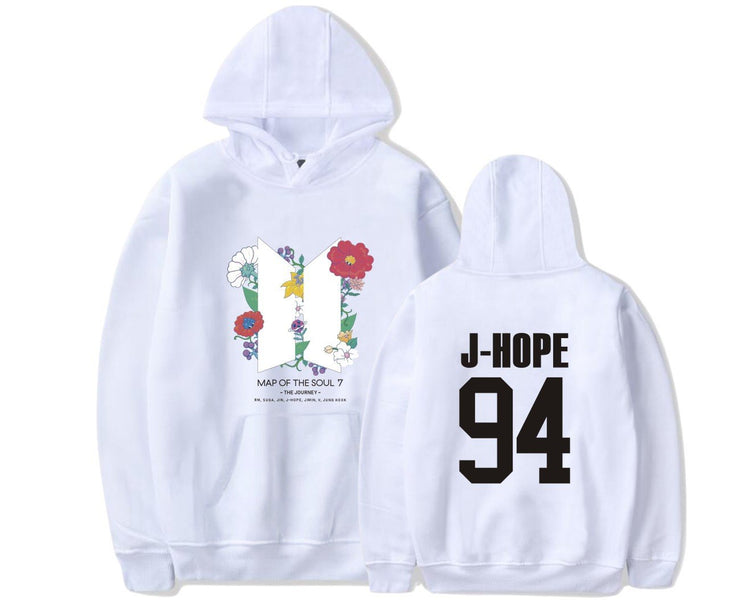 BTS Map Of The Soul: 7 'The Journey' Hoodie J-HOPE / WHITE / S Gotamochi BTS MERCH BT21 MERCH KAWAII STORE