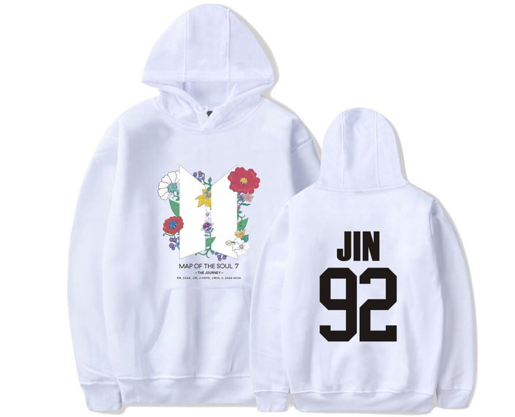 BTS Map Of The Soul: 7 'The Journey' Hoodie JIN / WHITE / S Gotamochi BTS MERCH BT21 MERCH KAWAII STORE