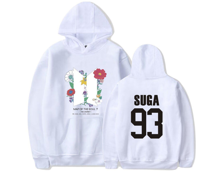 BTS Map Of The Soul: 7 'The Journey' Hoodie SUGA / WHITE / S Gotamochi BTS MERCH BT21 MERCH KAWAII STORE