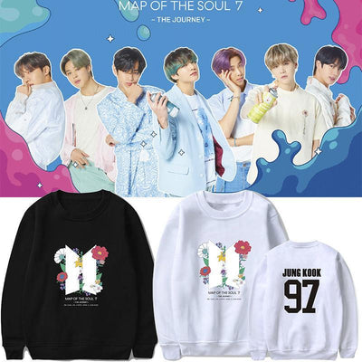 BTS Map Of The Soul: 7 'The Journey' Member Sweatshirt Gotamochi BTS MERCH BT21 MERCH KAWAII STORE