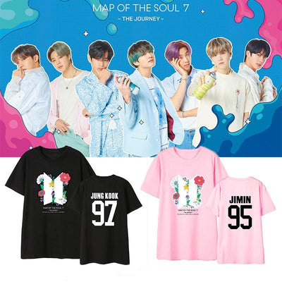 BTS Map Of The Soul: 7 'The Journey' Member T-shirt Gotamochi BTS MERCH BT21 MERCH KAWAII STORE