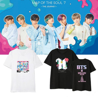 BTS Map Of The Soul: 7 'The Journey' T-shirt Gotamochi BTS MERCH BT21 MERCH KAWAII STORE