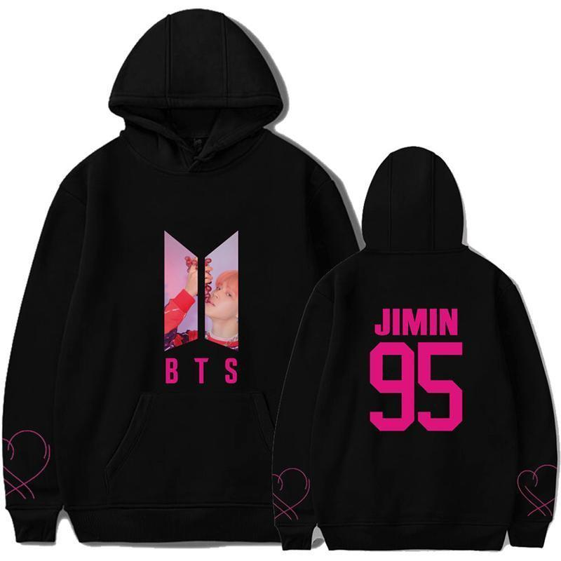BTS Map Of The Soul PERSONA Aesthetic Bias Hoodie Black / J HOPE / S Gotamochi BTS MERCH BT21 MERCH KAWAII STORE
